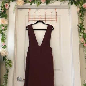 Maroon/Burgundy Overall Dress